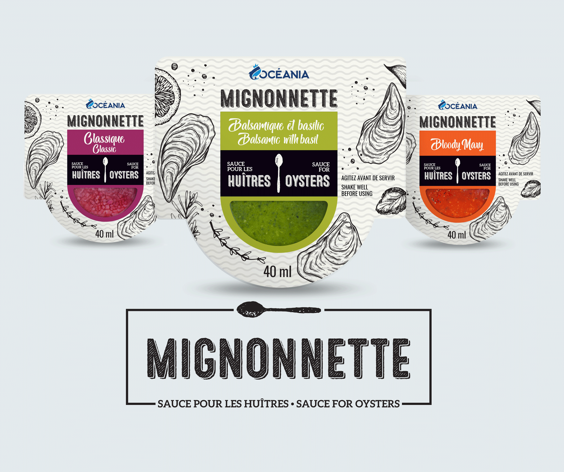 Mignonette Oceania emballage et branding